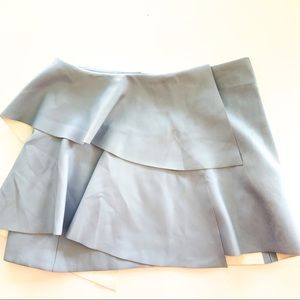 Zara Collection Blue Faux Leather B619